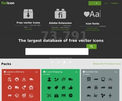 73000個以上!ウェブデザインのワンポイントに使える無料のフラットアイコン検索サイト